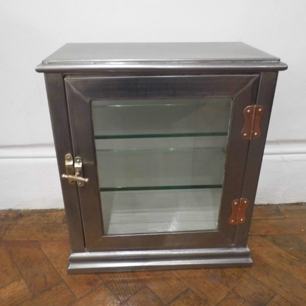 Product Details Price: SOLD - Polished Steel Medical Cabinet - Travers Antiques